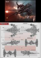 EVE online Space Ship by KaranaK