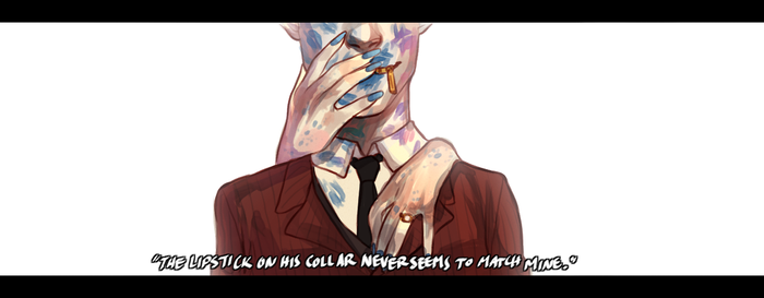 PN: The Lipstick on His Collar by ContradictingCats