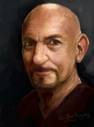 Sir Ben Kingsley Speed Paint Study by charfade
