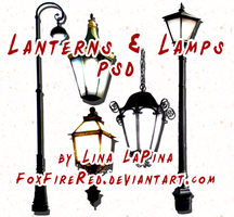 Lanterns and Lamps PSD by FoxFireRed
