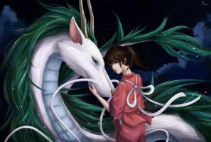 Spirited Away by xomori