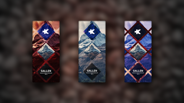 GALLEN Swiss Chocolate - Product packaging by KevinWScherrer