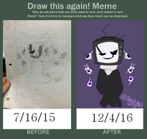Before and After Meme-- 2015-2016 Challenge by XShirakishouX