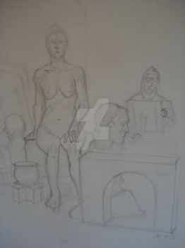 Figure II InClass Drawing 2 by PencilViking