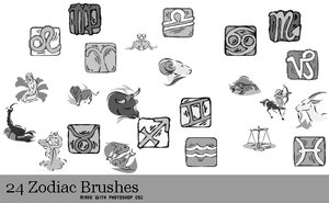 Zodiac Brushes by serene1980