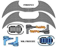 Cubee Craft Firefly and Mr. Freeze Accesories by handita2006
