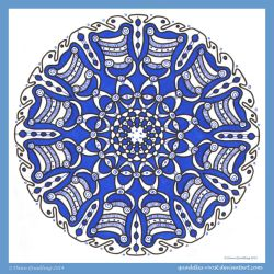 Tuesday Therapeutic Mandala I by Quaddles-Roost