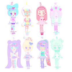 [ Pastel Decora Adopts ] - [CLOSED] by hello-planet-chan
