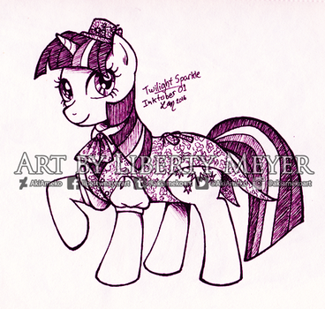 Inktober 01 Twilight Sparkle by AkiAmeko