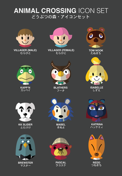Animal Crossing Icon Set by genehayes