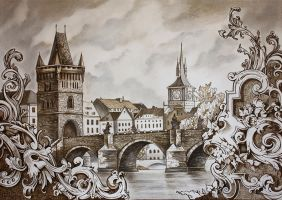 Prague Charles Bridge by Julliane