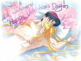 Valentines Day 2015 - Usagi and Mamoru! by foogie