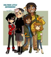 Voltron Little Defenders by eyugho