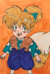 Fluffy fox child by angry-toon-link