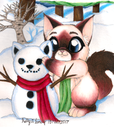 Winter Kitty is here by ANGEL-knight7