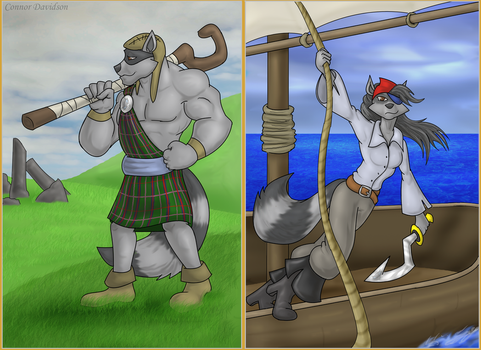 Scotsmen and Pirates [Commission] by ConnorDavidson