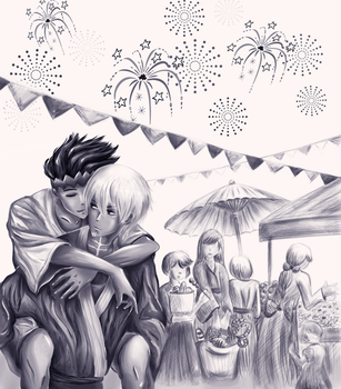 fireworks by nyxieee