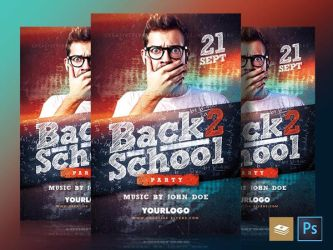 Back to school flyer Psd by RomeCreation
