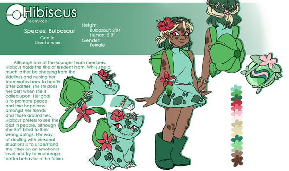 Hibiscus Bulbasaur Reference by Skitea