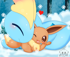 Amaura and Eevee