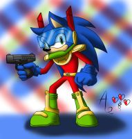 Zonic the Zone Cop - colored by AR-ameth