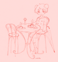 at the cafe by mogusq
