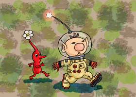 Captain Olimar from Pikmin by Erikku8