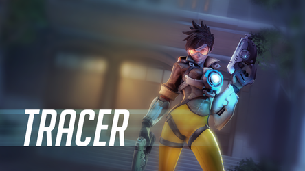 (Overwatch) Tracer Wallpaper #1 by Ferexes