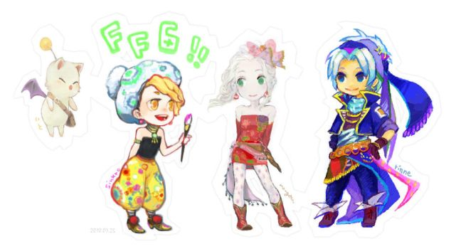 FF6 collaboration by sweetmoon
