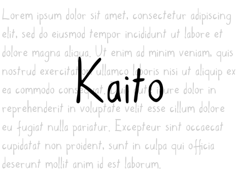 Kaito handwriting font by Beta-Orionis