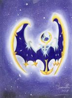 Pokemon SunMoon: Lunala by GothNebula