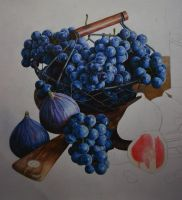 grapes in process by PutyatinaEkaterina