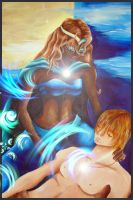 Selene and Endymion by Freeglader
