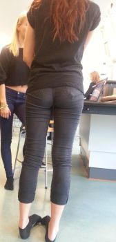 Brown Jeans Butt 1 by SxyButBits
