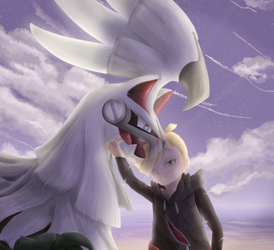 Gladion and Silvally by Cinnamon-Quails
