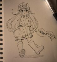 Platelet-Chan by Periphone