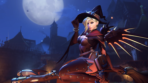 Overwatch - Witch Mercy [5K HD Wallpaper] by 3redin