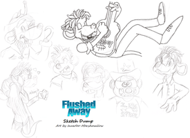 Flushed Away Sketches by Invader-Marshmallow