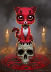 Devil Kitty by namesjames