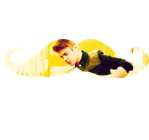 Justin Bieber Moustache PNG by Maiiy