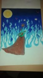 Blue fire under the sun of night (surreal) by Liyito
