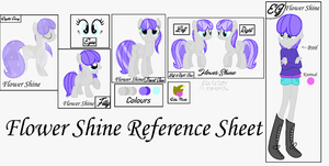 Flower Shine Reference Sheet (Small Version) by FlowerStuffYay