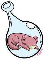 079 Slowpoke Bottle by zobeast