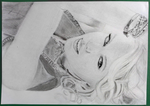 Taylor Swift pencil portrait by jstq