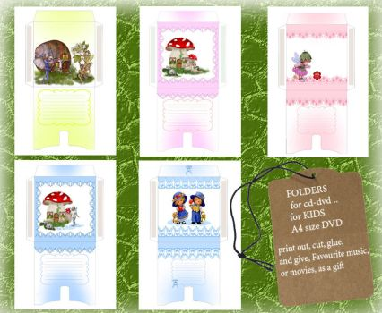 FOLDERS for cd-dvd  for KIDS by roula33
