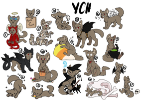 HUGE HALLOWEEN YCH by Chargay