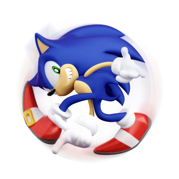 Sonic Adventure Pose(Transparent) by ModernLixes