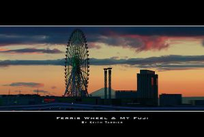 Ferris Wheel and Mt Fuji by Keith-Killer
