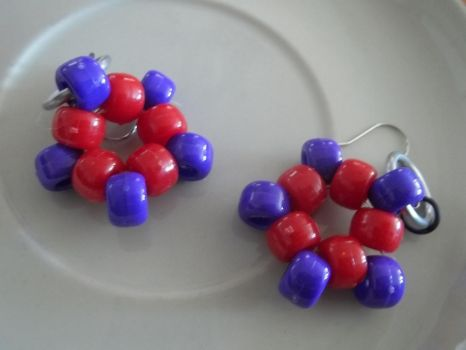 Kandi Star Earrings Pair 4 by jenneilicious