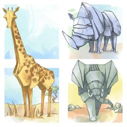 African Origami by GoldenLionofRa